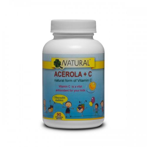 Vitamín C + Acerola pre deti - 90 cucavých tablet 500x500